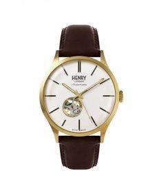 ヘンリーロンドン ヘリテージ オートマティック HL42-AS-0280 腕時計 メンズ HENRY LONDON Heritage Automatic 自動巻 ゴールド レザーストラップ