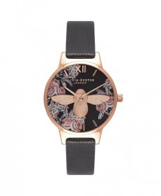 オリビアバートン ミディー ダイアル OB16AM100 腕時計 レディース OLIVIA BURTON MEDIUM DIAL ゴールド レザーストラップ
