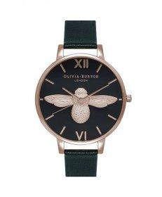 オリビアバートン ビッグダイアル  OB16AM98 腕時計 レディース OLIVIA BURTON BIG DIAL ゴールド レザーストラップ