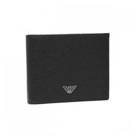 即納可能!エンポリオアルマーニ 二つ折り財布 Y4R165 YLA0E 81072 メンズ ブラック 黒 EMPORIO ARMANI イーグルロゴ 二折財布