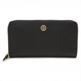 Tory Burch 長財布 45254 ROBINSON ZIP CONTINENTAL WALLET Black/Royal Navy 018 ブラック レディース トリーバーチ