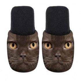 ユーロスポンジ CATS BLACK OS BACK Lサイズ スリッパ eurospugna  ユニセックス メンズ レディース ルームシューズ 猫 ねこ ネコ