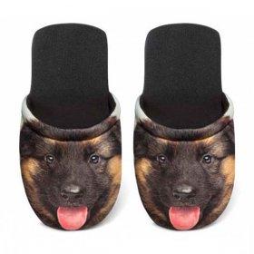 ユーロスポンジ DOGS GERMAN SHEPHERD Mサイズ スリッパ eurospugna  ユニセックス メンズ レディース ルームシューズ 犬 ジャーマンシェパード