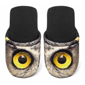 ユーロスポンジ EYES OWL Lサイズ スリッパ eurospugna  ユニセックス メンズ レディース ルームシューズ フクロウ ふくろう 鳥