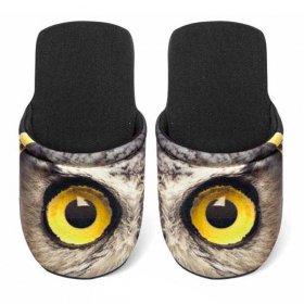 ユーロスポンジ EYES OWL Mサイズ スリッパ eurospugna  ユニセックス メンズ レディース ルームシューズ フクロウ ふくろう 鳥