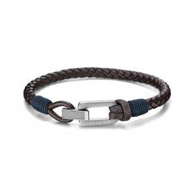 トミー ヒルフィガー ブレスレット 2701011 ブラウン/シルバー ブレスレット TOMMY HILFIGER bracelet ユニセックス