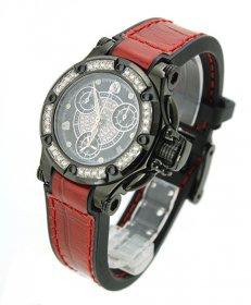 特価 55%OFF!以下! アクアノウティック プリンセスクーダ P220250BN01Y09 腕時計 レディース ダイヤモンドベゼル レッド 赤ベルト AQUANAUTIC First Cuda