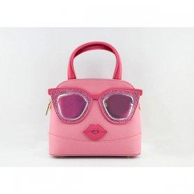 メリミス ポウポウ PP001 pink ピンク 2Way ショルダーバッグ MERIMIES Pow Pow レディース フェイス柄 サングラスフェイス