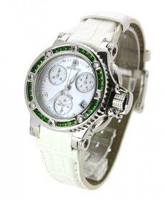 特価 55%OFF! アクアノウティック プリンセスクーダ P0006BDIC03 腕時計 レディース ジュエリーベゼル グリーン ホワイト 白ベルト AQUANAUTIC