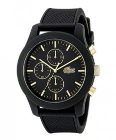 ラコステ  2010826 腕時計 ユニセックス LACOSTE  ラバーストラップ ブラック文字盤 誕生日プレゼント ペアウォッチ※時計は1点での価格です。