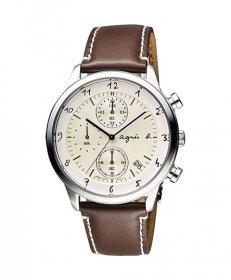 アニエスベー  BM3004J1 腕時計 メンズ agnes b.  クオーツ クロノグラフ レザーストラップ