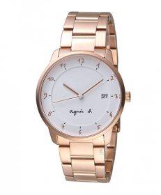 アニエスベー マルチェロ BS9002J1 腕時計 ユニセックス agnes b.  クオーツ ゴールド メタルブレス メンズ