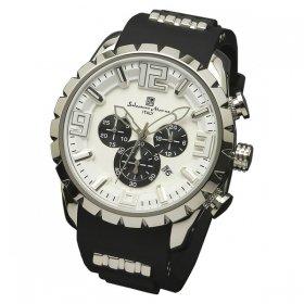 サルバトーレマーラ SM15107-SSWH 腕時計 メンズ  Salvatore Marra クロノグラフ 3Dインデックス