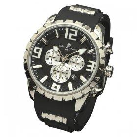 サルバトーレマーラ SM15107-SSBK 腕時計 メンズ  Salvatore Marra クロノグラフ 3Dインデックス