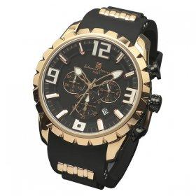 サルバトーレマーラ SM15107-PGBK 腕時計 メンズ  Salvatore Marra クロノグラフ 3Dインデックス ゴールド