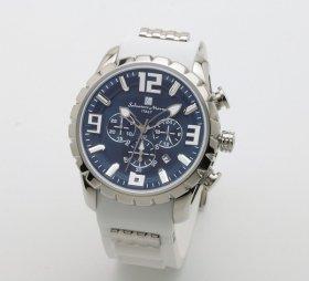 サルバトーレマーラ SM15107-SSBL/WH 腕時計 メンズ  Salvatore Marra クロノグラフ 3Dインデックス