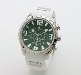 サルバトーレマーラ SM15107-SSGR/WH 腕時計 メンズ  Salvatore Marra クロノグラフ 3Dインデックス