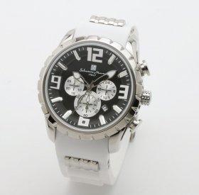 サルバトーレマーラ SM15107-SSBK/WH 腕時計 メンズ  Salvatore Marra クロノグラフ 3Dインデックス