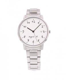 アニエスベー  BG8005X1 腕時計 ユニセックス agnes b.  メタルブレス ホワイト かわいい プレゼント クオーツ