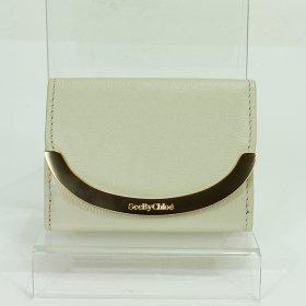 シーバイクロエ 三つ折り財布 CHS19AP891629 24H Cement Beige ベージュ系 ゴールド レディース SEE BY CHLOE 小さい ミニウォレット