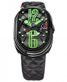 グリモルディ G.T.O.  ミント BKSHBK612GR-BK 腕時計 メンズ GRIMOLDI Gran Tipo Ovale Mint
