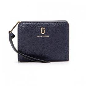 マークジェイコブス 二つ折り財布 M0015122 410/NAVY ネイビーブルー 紺 サイフ ウォレット MARC JACOBS  レディース メンズ ユニセックス 無地 ブランド