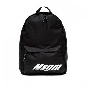 MSGM ロゴプリントバックパック 2740MZ200 099 ブラック 黒 エムエスジーエム メンズ ユニセックス 無地 通勤 通学 鞄 かばん カバン