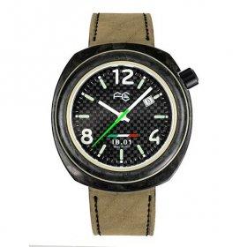 特価73%OFF! ワケありアウトレット フルカーボン IB0112-BD IB.01 自動巻 腕時計 メンズ レザーストラップ FULL CARBON