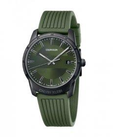 カルバンクライン エビデンス K8R114WL 腕時計 メンズ CALVIN KLEIN Evidence ラバーベルト カーキ ビジネスウォッチ プレゼント