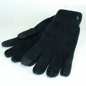 即納可ポロ ラルフローレン スマホ対応手袋 PC0493 001/BLACK ブラック 黒 ユニセックス メンズ レディース 男女兼用 スマホ手袋 タッチグローブ POLO RALPH LAUREN