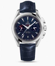 オメガ シーマスターアクアテラ 231.13.43.52.03.001  腕時計 メンズ OMEGA Seamaster レザーベルト ブルー プレゼント ラッピング無料 クリスマスプレゼント