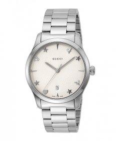 グッチ G-Timeless YA1264028A         腕時計 レディース GUCCI G-タイムレス メタルブレス 防水 プレゼント ラッピング無料 送料無料
