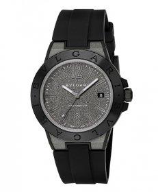 ブルガリ ディアゴノマグネシウム DG41C14SMCVD 腕時計 メンズ BVLGARI Diagono Magnesium ラバーストラップ 自動巻き グレー プレゼント ラッピング無料