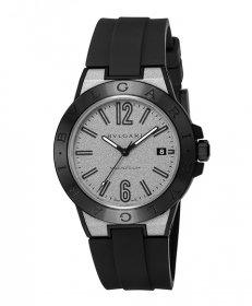 ブルガリ ディアゴノマグネシウム DG41C6SMCVD  腕時計 メンズ BVLGARI Diagono Magnesium ラバーストラップ 自動巻き シルバー プレゼント ラッピング無料
