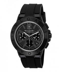 ブルガリ ディアゴノマグネシウム DG42BSMCVDCH  腕時計 メンズ BVLGARI Diagono Magnesium ラバーストラップ 自動巻き ブラック プレゼント ラッピング無料