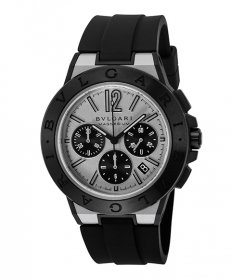 ブルガリ ディアゴノマグネシウム DG42WSMCVDCH 腕時計 メンズ BVLGARI Diagono Magnesium ラバーストラップ 自動巻き シルバー プレゼント ラッピング無料