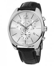 カルバンクライン エクスチェンジ K2F27120 腕時計 メンズ CALVIN KLEIN Exchange クロノグラフ レザーストラップ