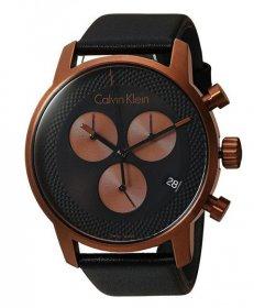 カルバンクライン シティ K2G17TC1 腕時計 メンズ CALVIN KLEIN City クロノグラフ レザーストラップ ゴールド