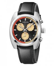 カルバンクライン アチーブ K8W371C1 腕時計 メンズ CALVIN KLEIN ACHIEVE クロノグラフ レザーストラップ