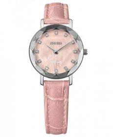 ジョウィサ オーラ 5.643.S 腕時計 レディース JOWISSA Aura J5シリーズ レザーストラップ ピンク