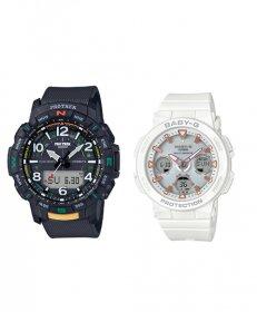カシオ ジーショック PRTB501JF/BGA25007AJF 腕時計 メンズ/レディース CASIO G-SHOCK ペアウォッチ 防水 プレゼント 記念日 Bluetooth対応
