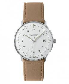 ユンハンス マックスビル 027 4700 02B 自動巻き 腕時計 メンズ JUNGHANS Max Bill Automatic 027/4700.02B レザーストラップ ベージュ