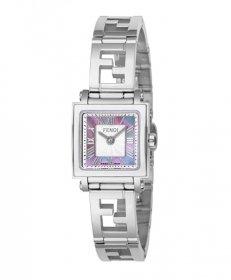 フェンディ クアドエオミニ F605027500 腕時計 レディース FENDI QUADOROMINI メタルブレス ピンクシェル スクエア文字盤 クォーツ プレゼント
