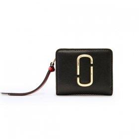マークジェイコブス 二つ折り財布 M0013360 014/BLACK ブラック ボルドー 黒 サイフ ウォレット MARC JACOBS Mini Compact Wallet レディース