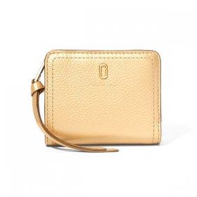 マークジェイコブス 二つ折り財布 M0016544 710/Gold ゴールド サイフ ウォレット MARC JACOBS Mini Compact Wallet レディース