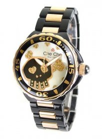 ワケあり アウトレット 73%OFF! チチニューヨーク CC672-WH スカル 腕時計 レディース Che Che NewYork