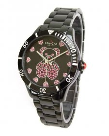 ワケあり アウトレット 73%OFF! チチニューヨーク CC65B-BK 腕時計 レディース Che Che NewYork