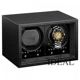ボクシーデザイン ウォッチワインダー SE02-BK 2個巻き セーフエコ ブラック タッチパネル BOXY Design ※時計は付属していません