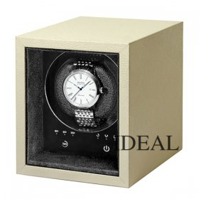 ボクシーデザイン ウォッチワインダー SE01-BE 1個巻き セーフエコ ベージュ タッチパネル BOXY Design ※時計は付属していません