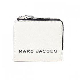 マークジェイコブス 二つ折り財布 M0017061 164/Cotton ホワイト 白 ブラック 黒 バイカラー レディースザ ボールド ミニ コンパクト MARC JACOBS